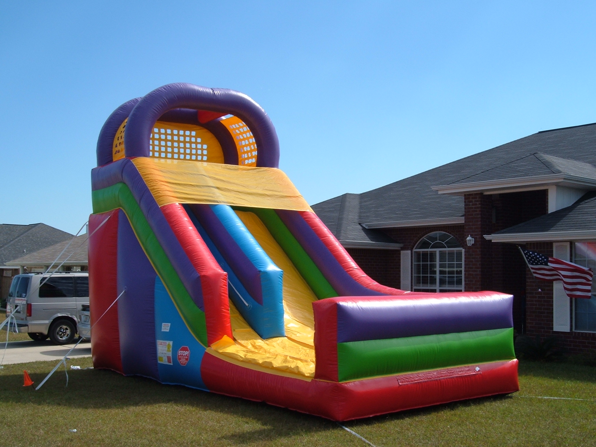Party time bounce llc crestview florida 39 s first choice for inflatable water slide rentals - The giant slide apartament ...